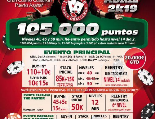 La próxima semana llega el Levante Poker Challenge de Semana Santa a Gran Casino Castellón