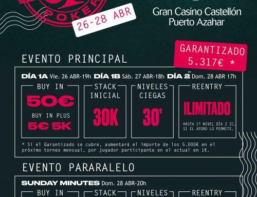 EL GTD, regresa de nuevo esta semana a la Poker room del Gran Casino Castellón