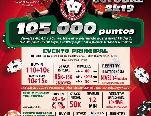 Nueva etapa del Levante Poker Challenge en Orenes Gran Casino Castellón