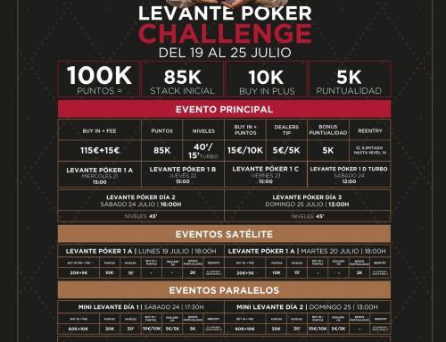 En julio regresa el Levante Poker Challenge a Orenes Gran Casino Castellón